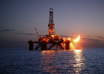Offshore drilling rig flare