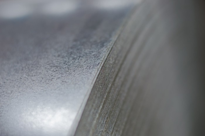 A galvanized steel coil