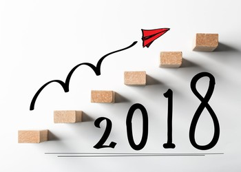 2018 with arrow pointing higher