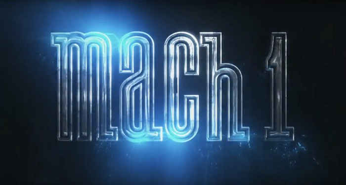 "Ford's historic ""Mach 1"" logo, from an image shown during the company's presentation in Detroit on Sunday."