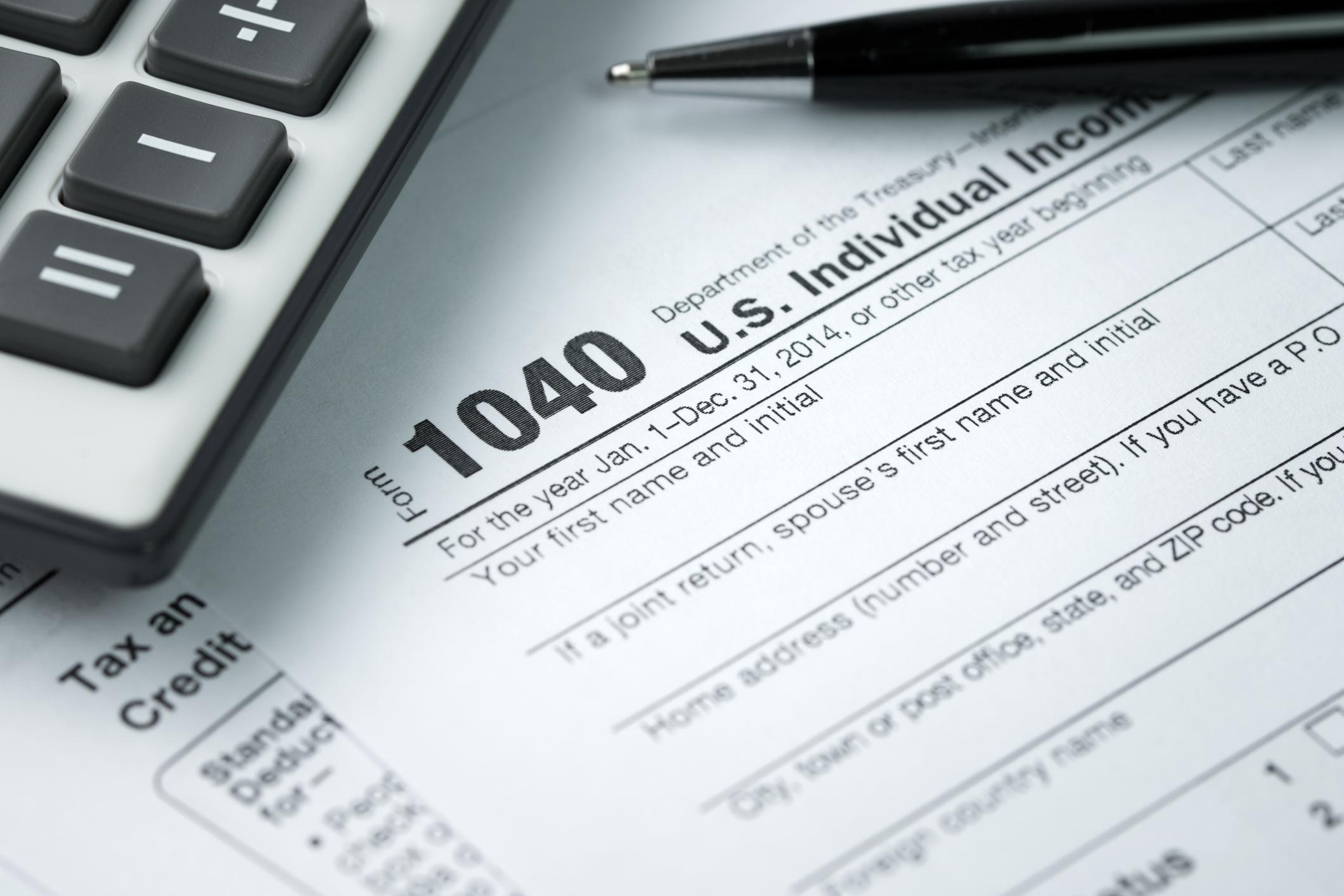 1040 tax return and calculator