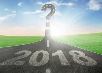 2018 on road leading to question mark