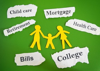 budget retirement college mortgage bills healthcare savings