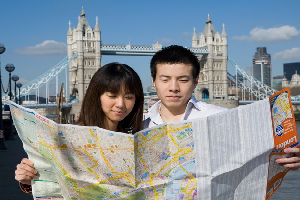 Tourists at Tower Bridge