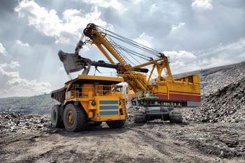 Gold Silver Copper Mine Excavator Dump Truck Precious Metal Getty