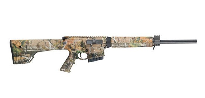 A camouflage Smith & Wesson modern sporting rifle
