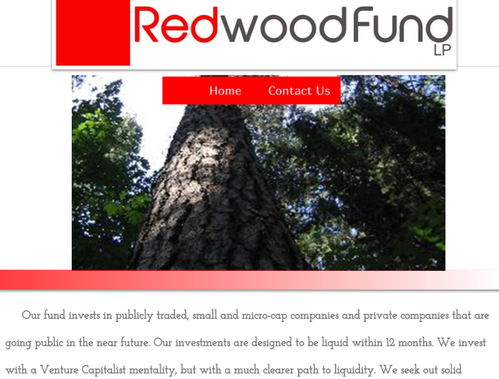 Homepage for the Redwood Fund