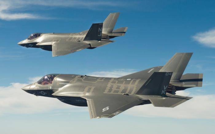 2 F-35 Stealth Fighter Jets.