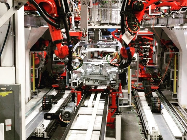 tesla robots robotic stocks kuka fanuc 2