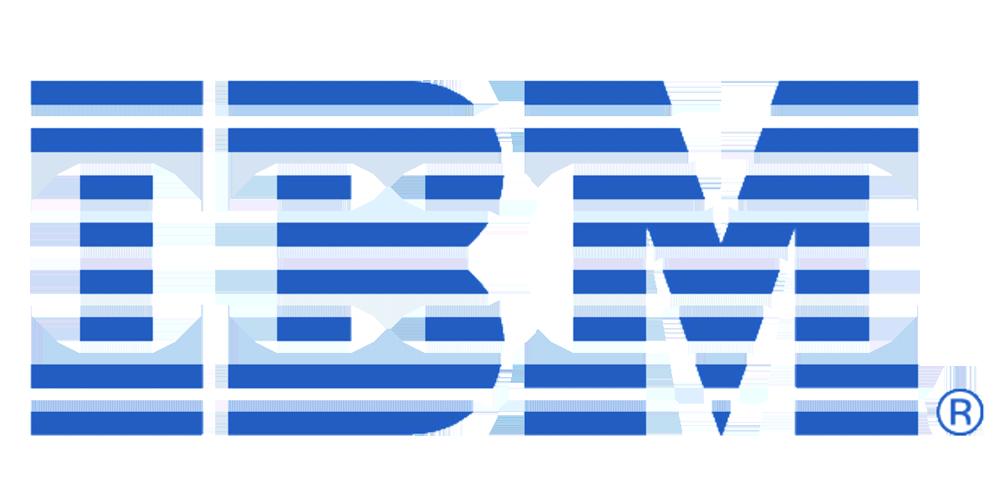 The IBM logo.