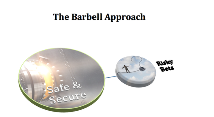 Visual representation of the barbell approach