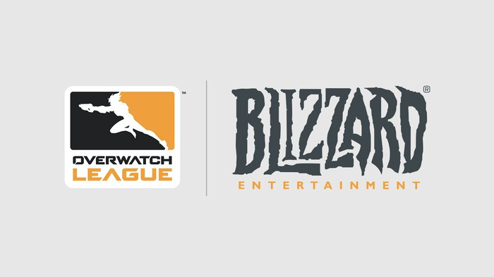 Official logos of Overwatch League and Blizzard Entertainment