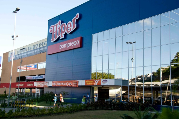 The front of an Hiper store in Brazil