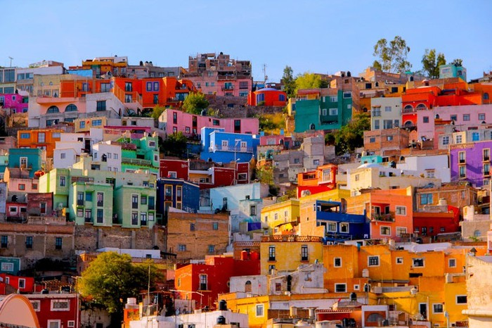 Houses on a hill in Mexico