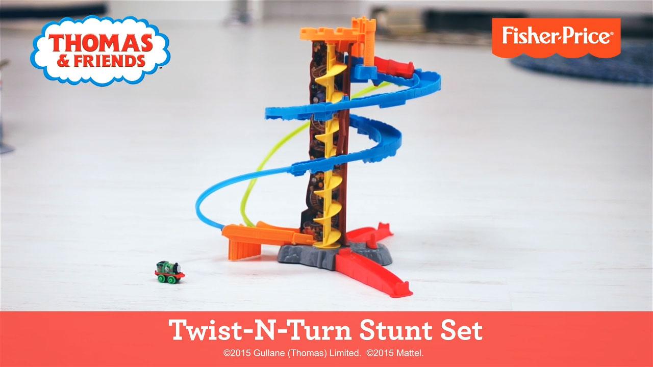 Thomas & Friends Twist-N-Turn Stunt Set box wtih Fisher-Price label.