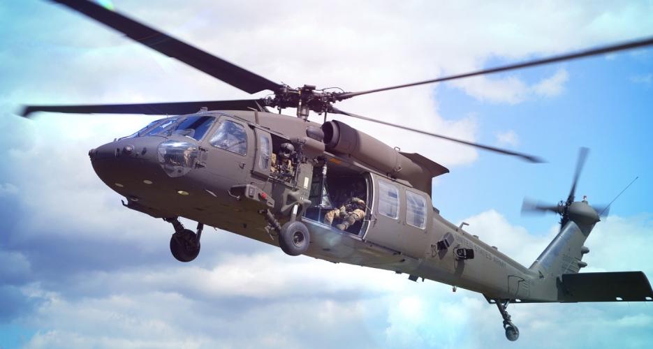 Sikorsky UH-60 Black Hawk helicopter in flight