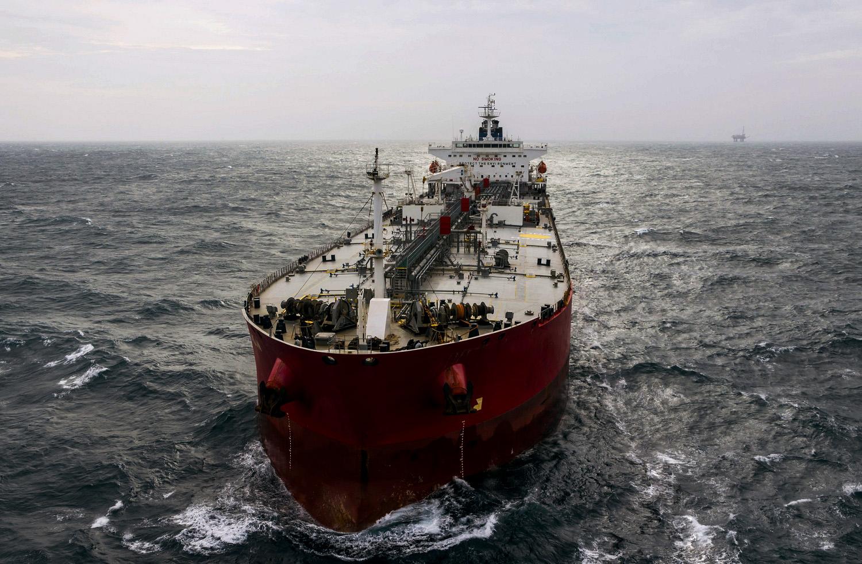 An ocean-going tanker vessel.