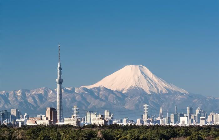 A view of Japan's Mt. Fuji