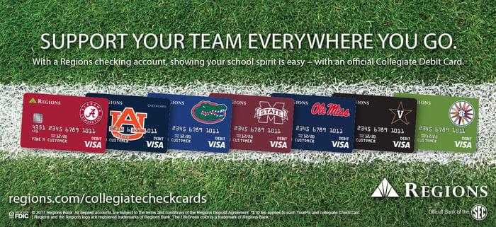 Regions financial card promo