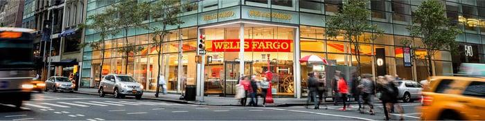 A Wells Fargo branch