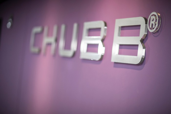 Chubb logo on a wall