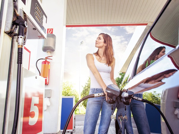 Getty Gas Station Young Woman