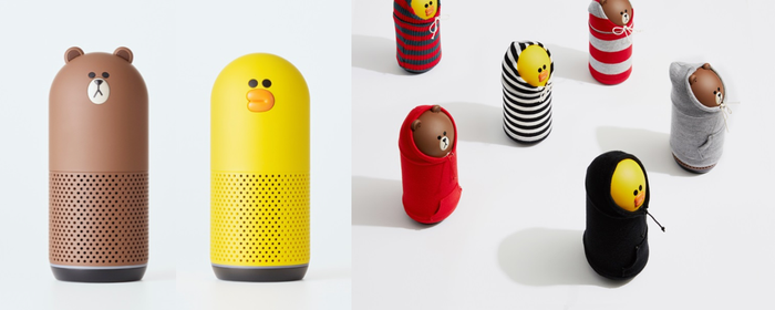"Line's ""Clova Friends"" speakers."