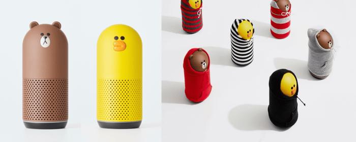 "Line's ""Clova Friends"" speakers."