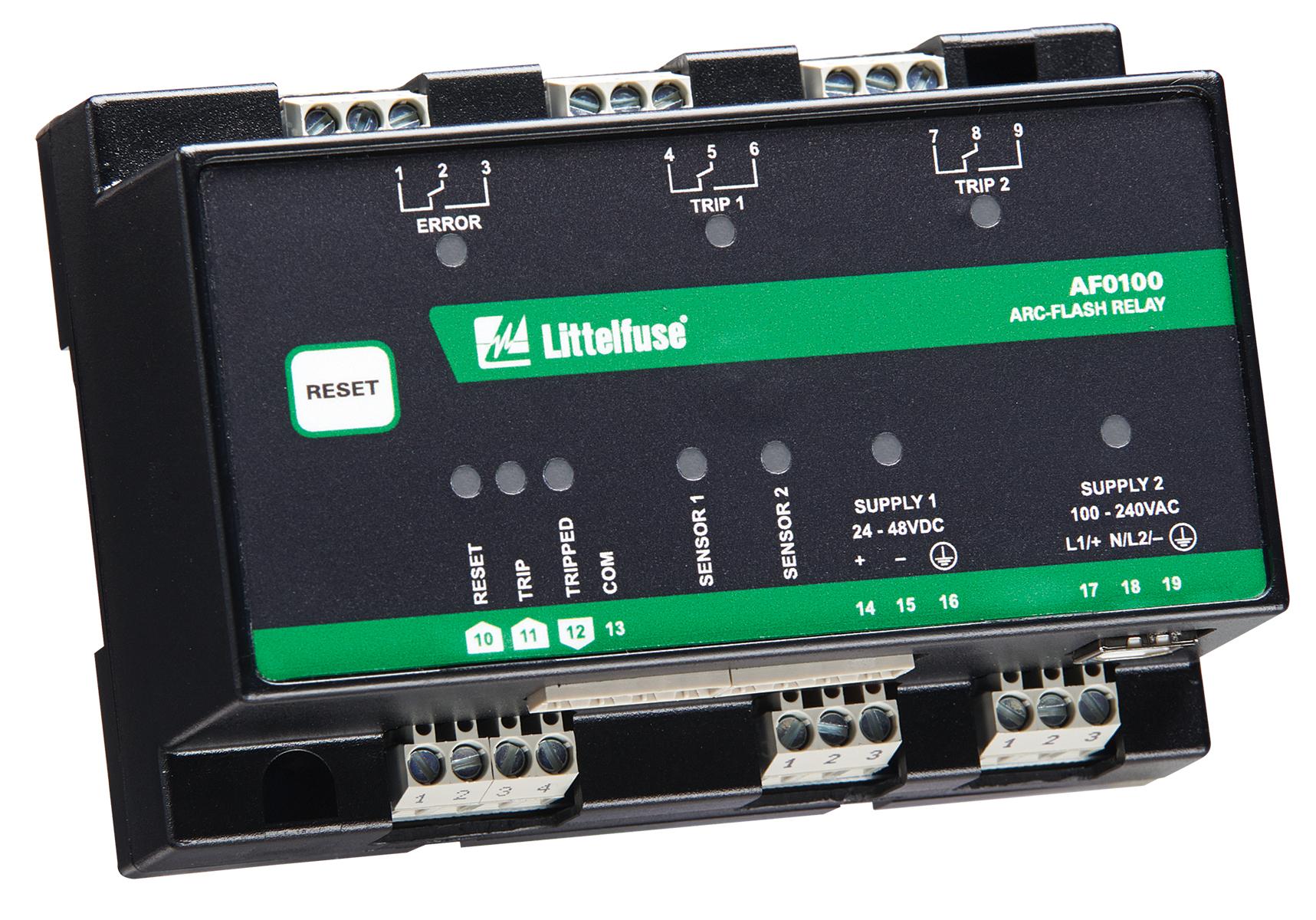 A Littelfuse arc-flash relay.