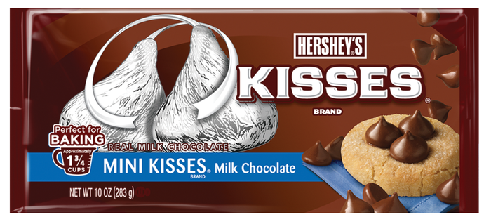 Packaging for Hershey's Mini Kisses.