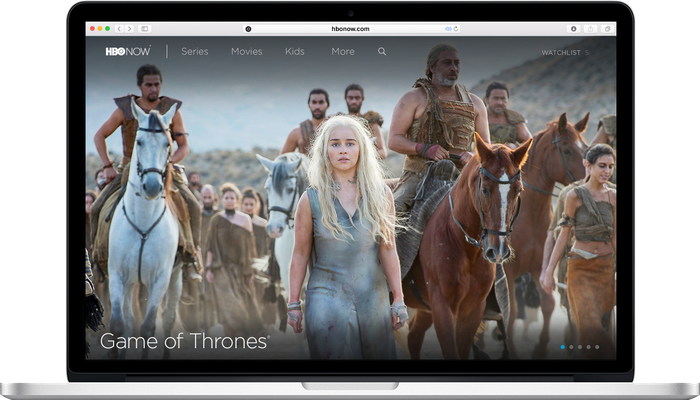 HBO Now streaming on a laptop.
