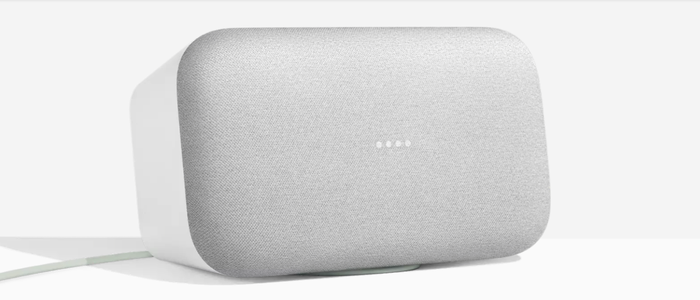 The Google Home Max smart speaker.