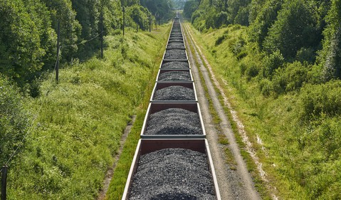Coal Traveling by Rail
