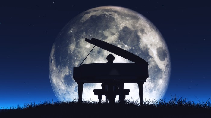 Moon and Piano