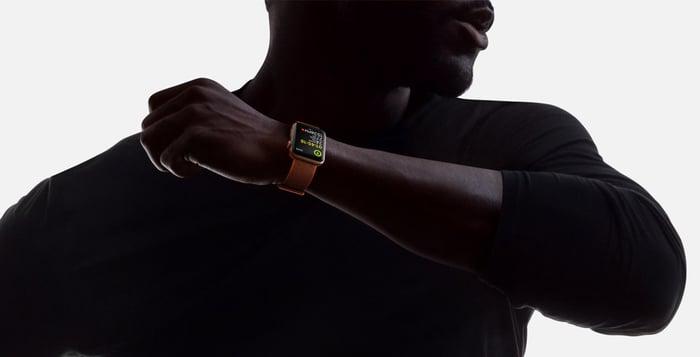 Man wearing Apple Watch Series 3