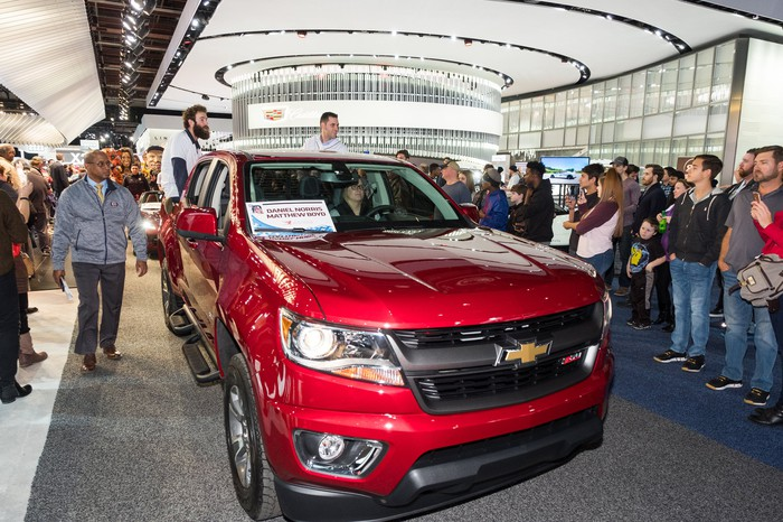 Detroit Tigers Tour Chevrolet Colorado Exhibit At NAIAS