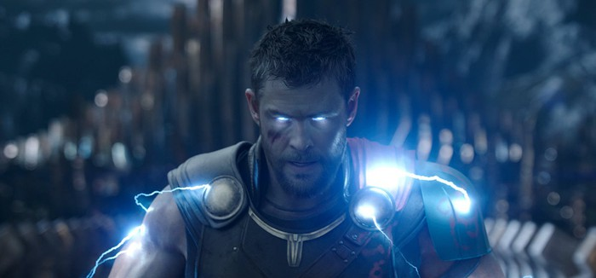 "Chris Hemsworth as Thor in ""Thor: Ragnarok."""