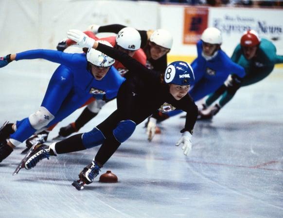 Speed skating olympics winter getty