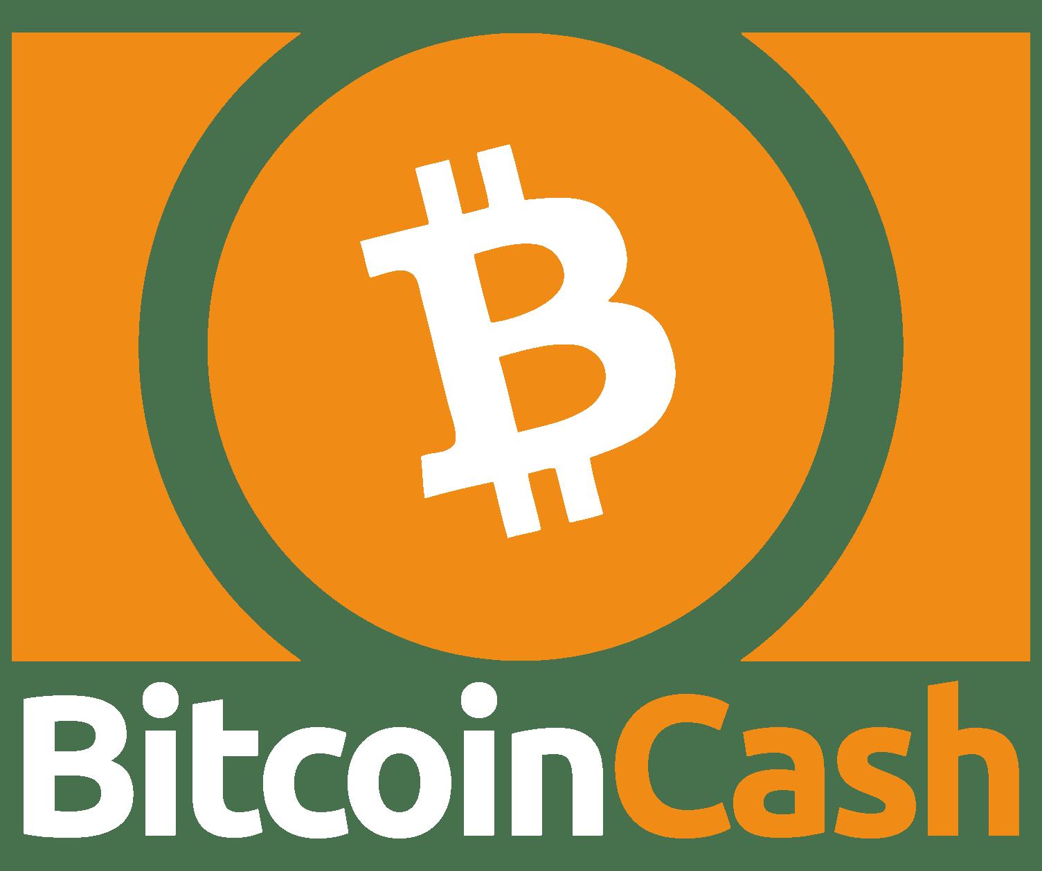 The Bitcoin Cash logo, orange on white.