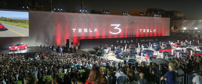 Model 3 delivery event