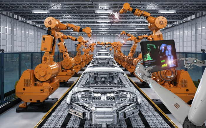 An automated car production line