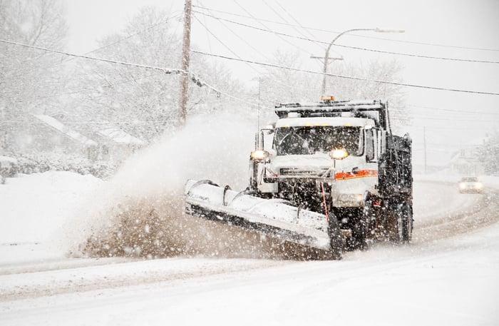 A snow plow.