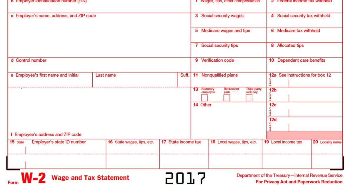 A Quick Guide to Your W-2 Tax Form