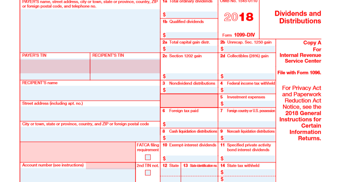 A Quick Guide to Your 1099-DIV Tax Form -- The Motley Fool