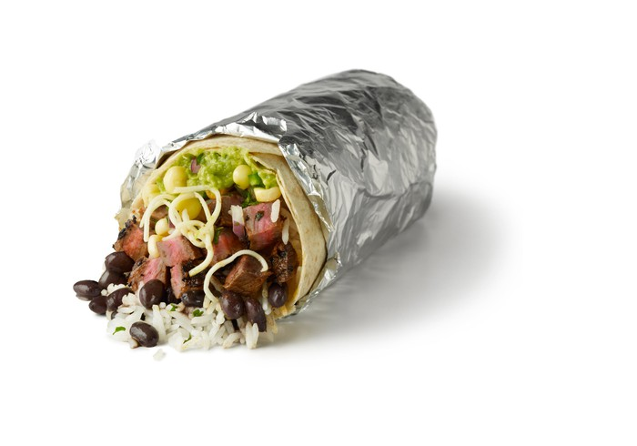 A Chipotle steak burrito
