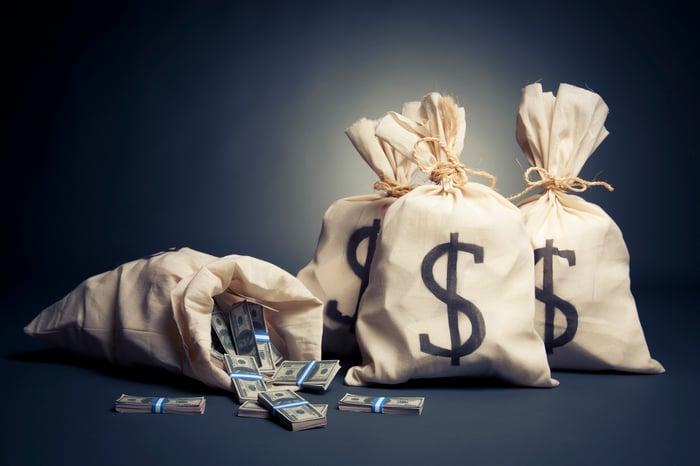 Bags of cash.