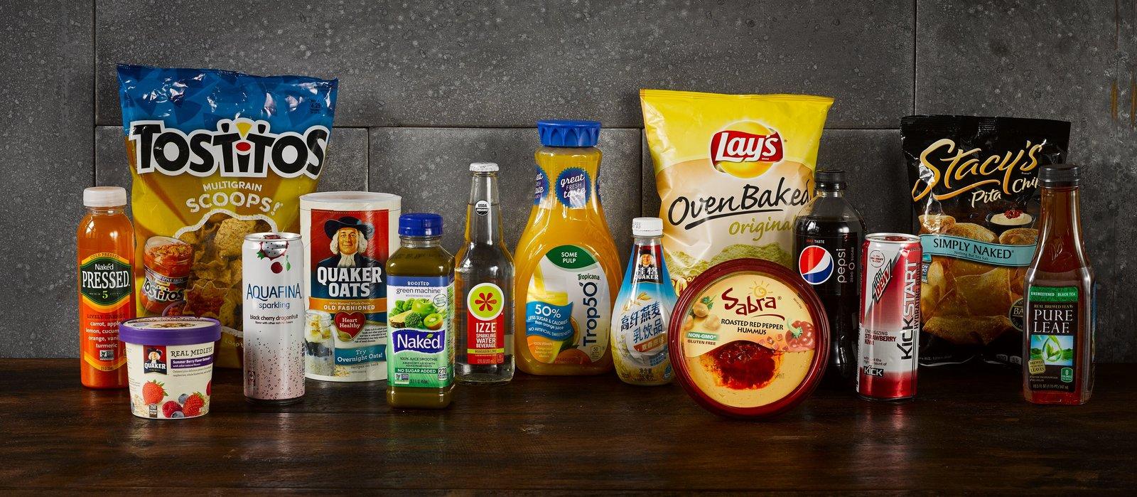 Pepsi food and beverage brands