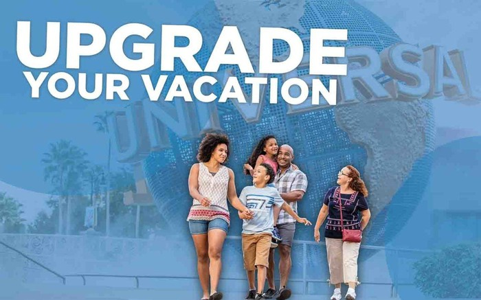 A Universal Studios Florida ad urging guests to upgrade their vacations.