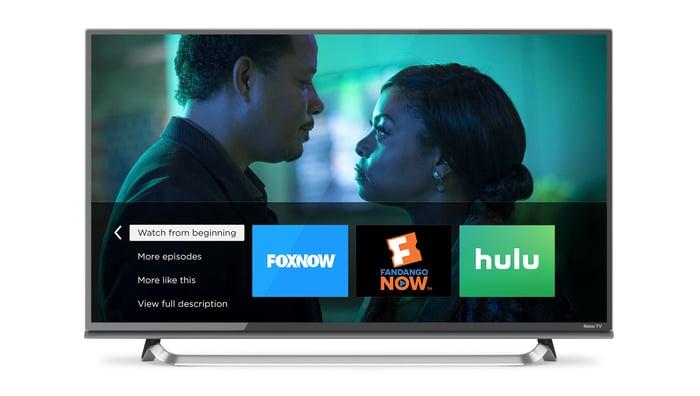 Roku interface on a TV