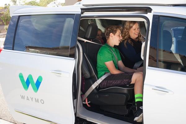Waymo van